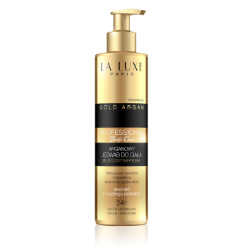 Argan body silk with golden shimmering